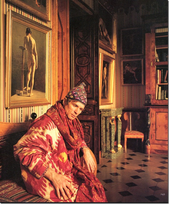 Rudolf Nureyev in Louvre apartment