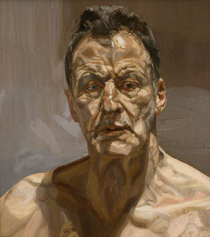 Reflection Self-Portrait Lucian Freud 1985