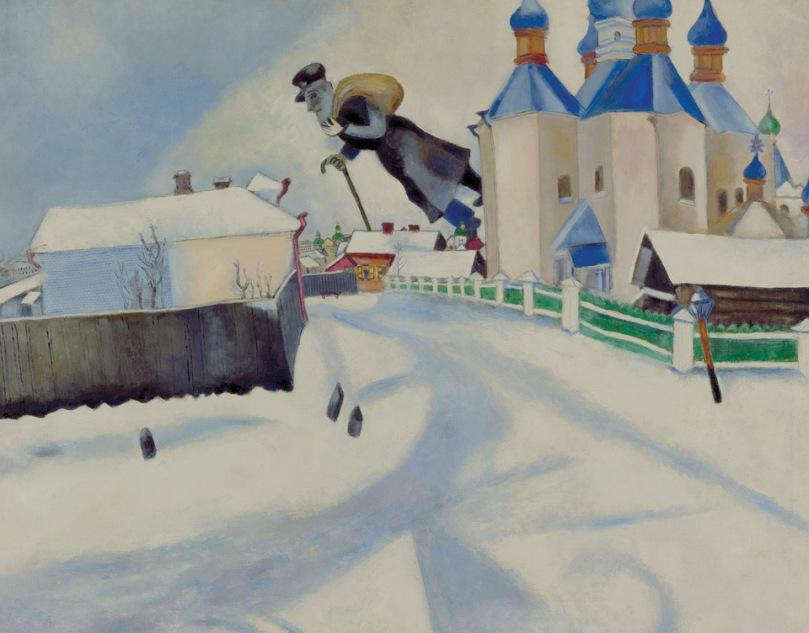 Marc Chagall: Au -dessus de Vitebsk, 1922