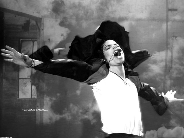 michael jackson black and white photo