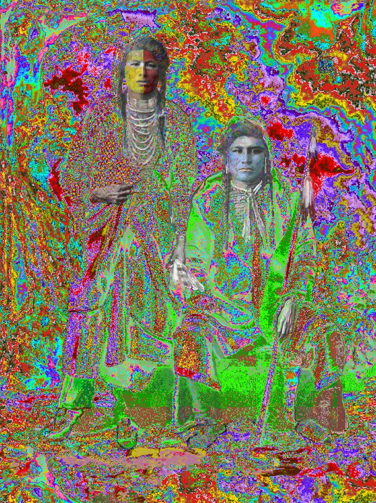 Buffy Sainte-Marie, Elder Brothers, Ilfordchrome (cibachrome) photograph, 73
