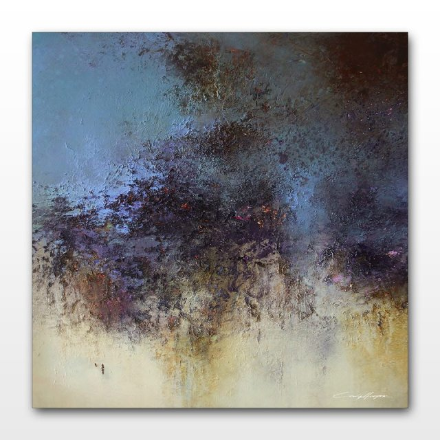 Lavender Fields 16x16 Acrylic on Panel 2014 Cody Hooper