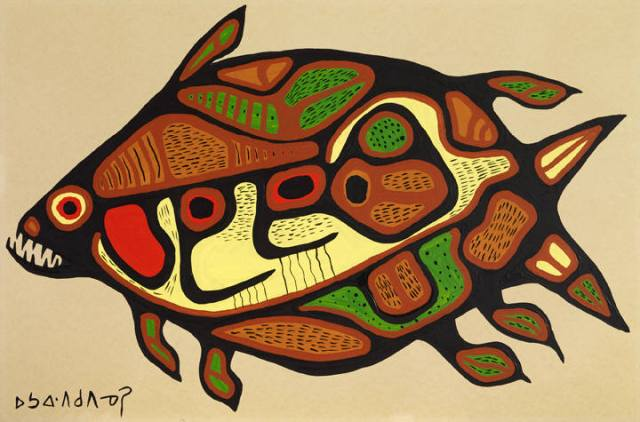 Norval_Morrisseau_The_Sacred_Lake_Fish_932_399