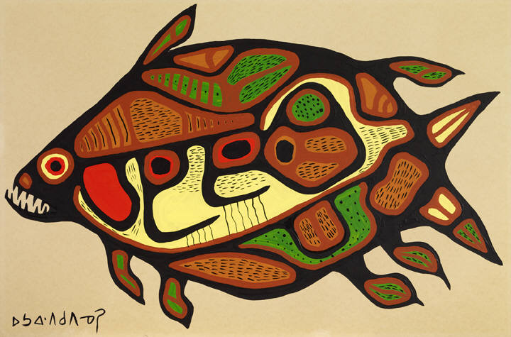 Norval_Morrisseau_The_Sacred_Lake_Fish_932_399