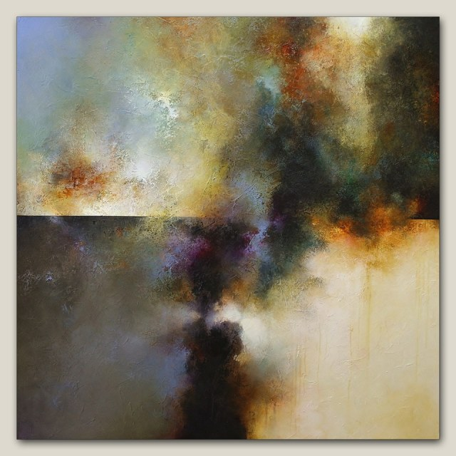 Serenity 48x48 2014 Acrylic on Panel Russell Collection