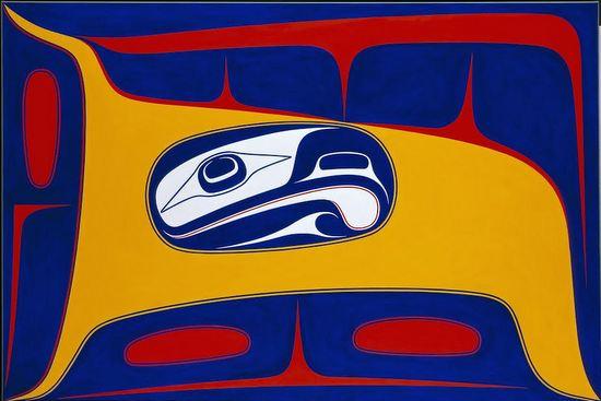 Bird in the air robert davidson acrylic on canvas 40 x 60 2012