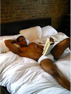 At bed reading