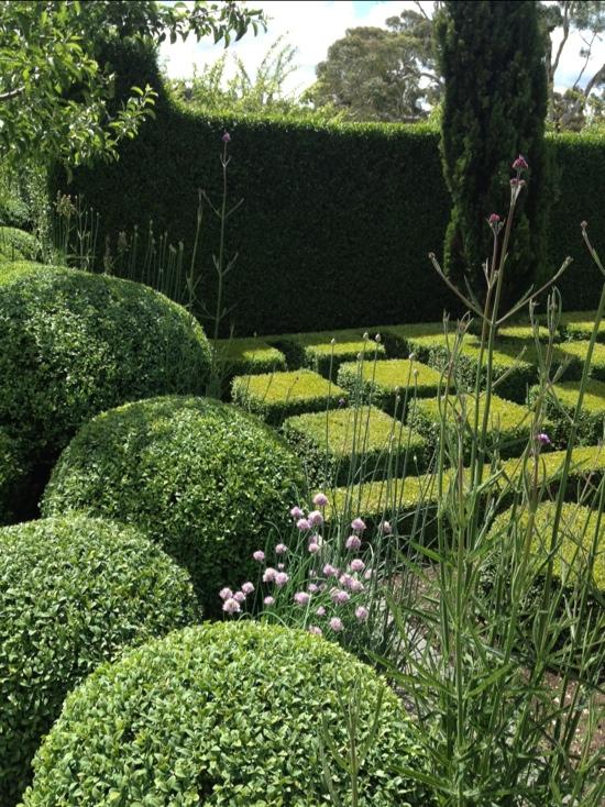 large manicured garden