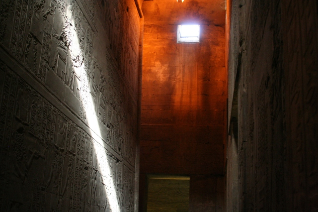 An egyptian temple interior