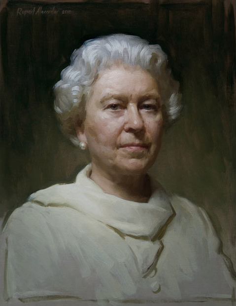 Rupert Alexander's portrait of HM The Queen (sml).jpg