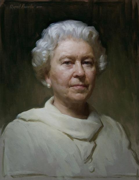 Rupert Alexander's portrait of HM The Queen (sml).jpg