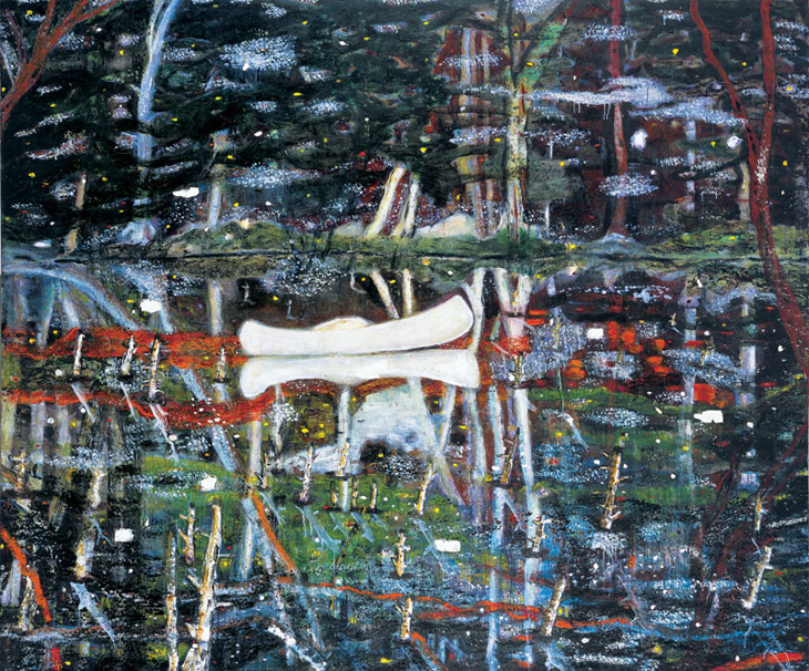 White Canoe Peter Doig
