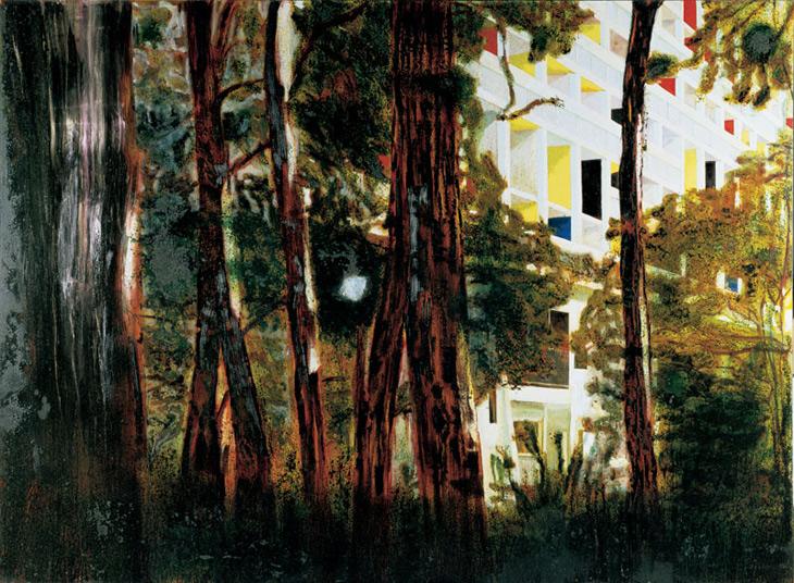 Concrete Cabin  Oil on Canvas 198 x 275 cm 1994 Peter Doig