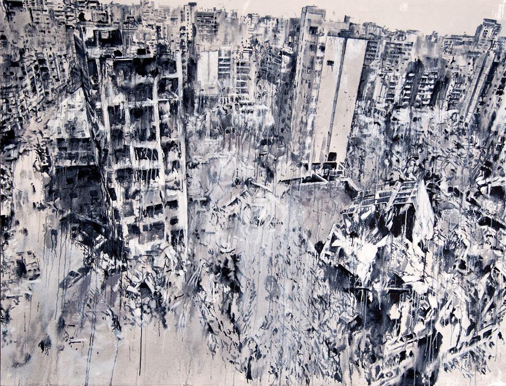 tammam-azzam-storeys-series-180-x-235-cm-acrylic-on-canvas-2015