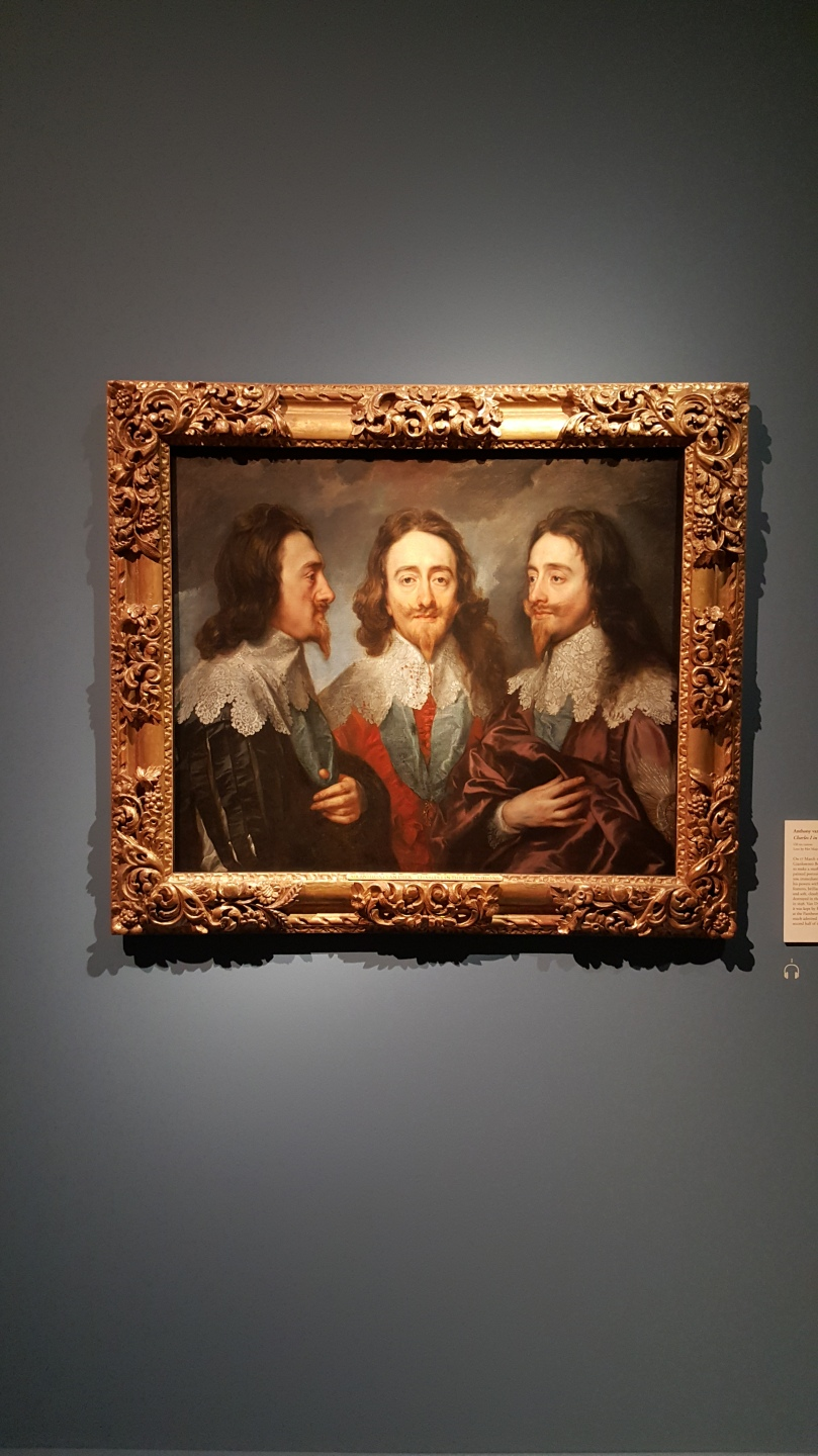 HM King Charles I Three Positions Sir Anthony van Dyck Oil on Canvas