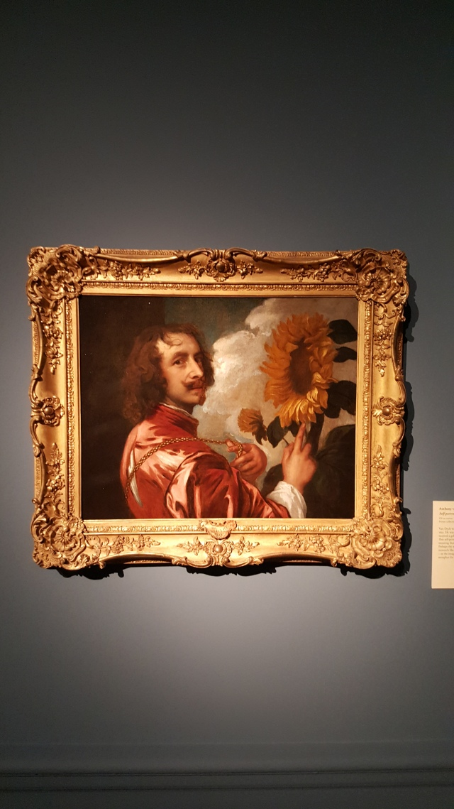 Sir Anthony van Dyck Self-Portrait with Sunflower Oil on Canvas