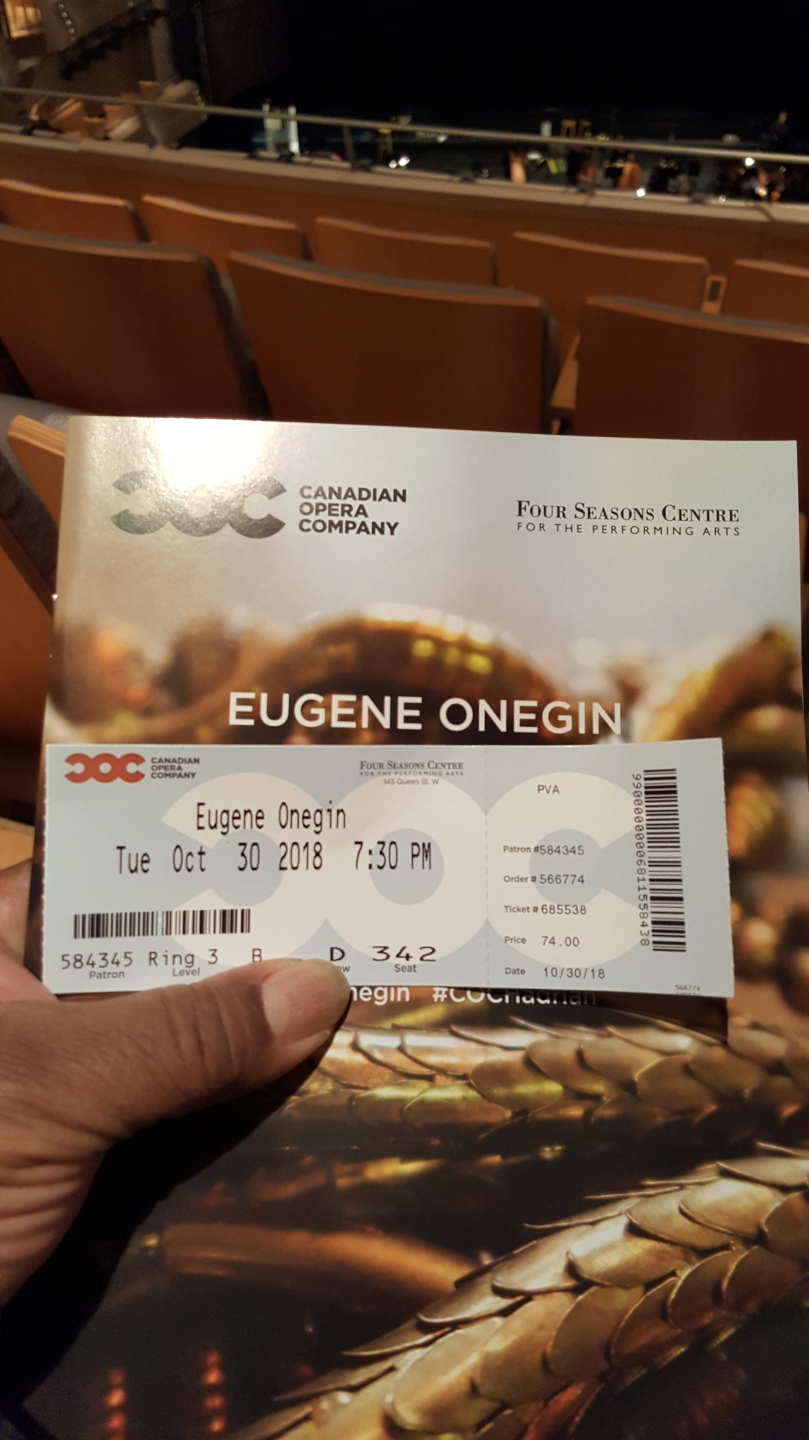 Ticket Onegin