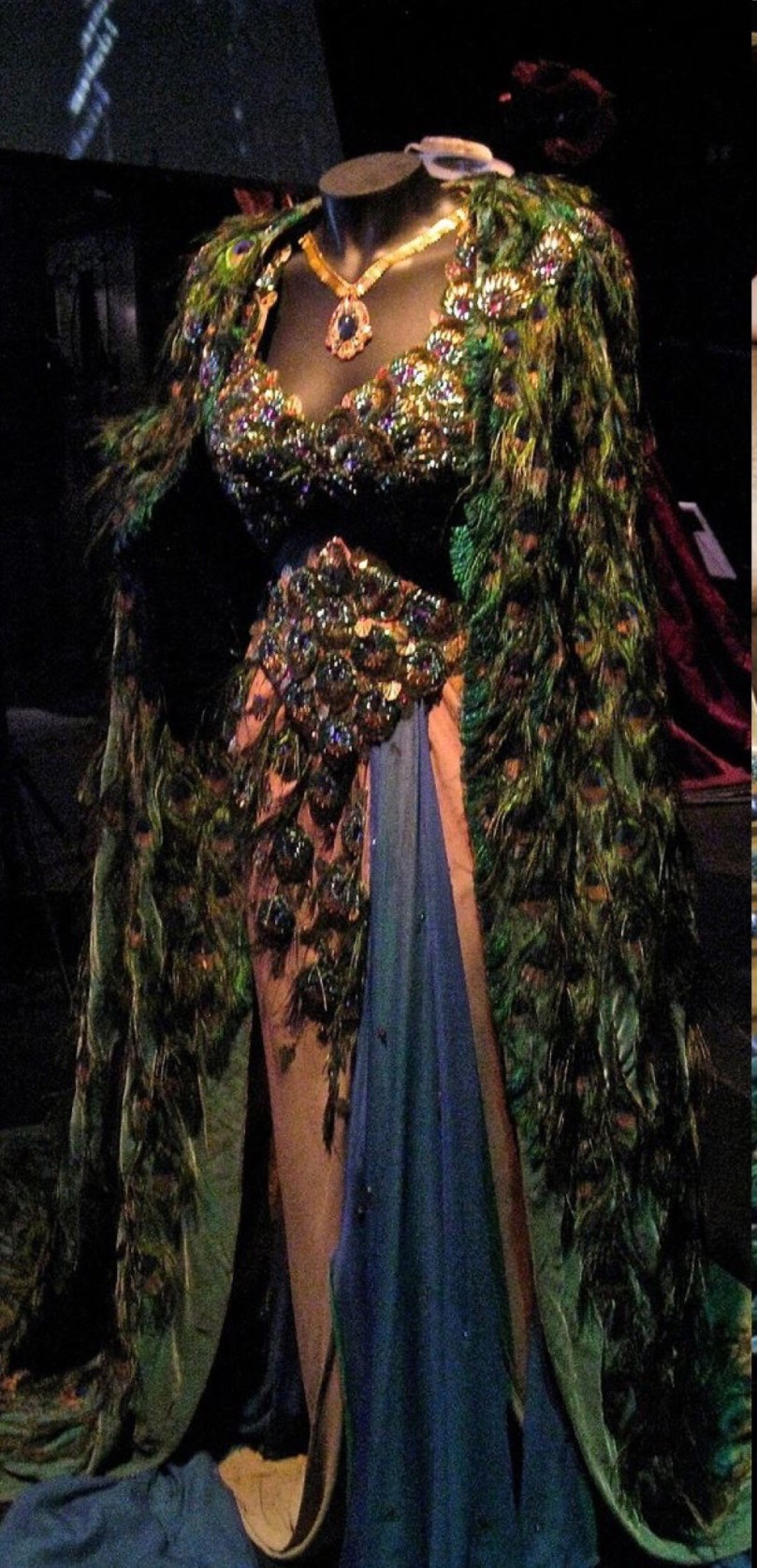 edith head peacock feathered dress