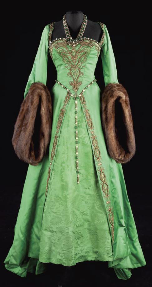 green-fur-trimmed