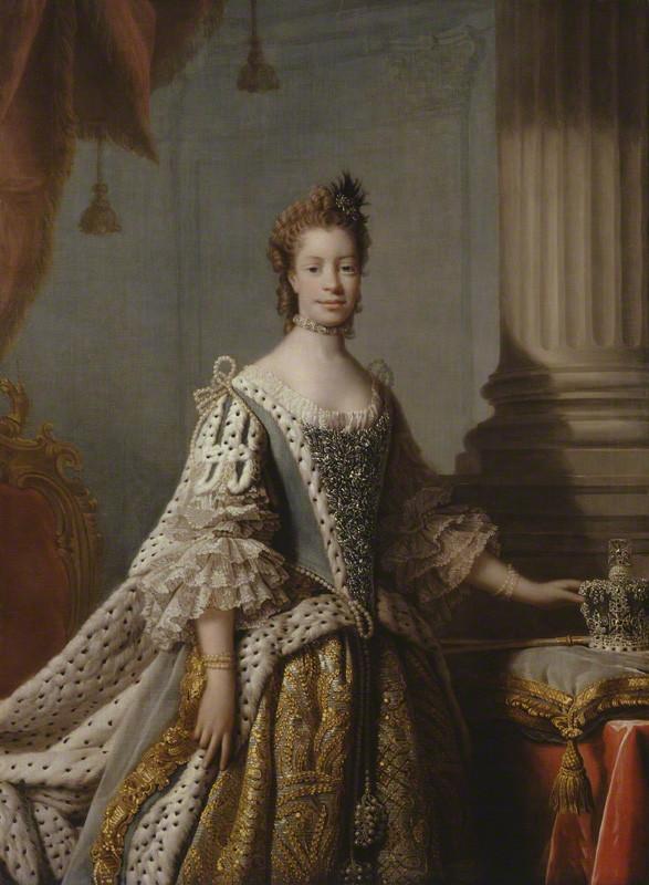 NPG 224; Charlotte Sophia of Mecklenburg-Strelitz studio of Allan Ramsay