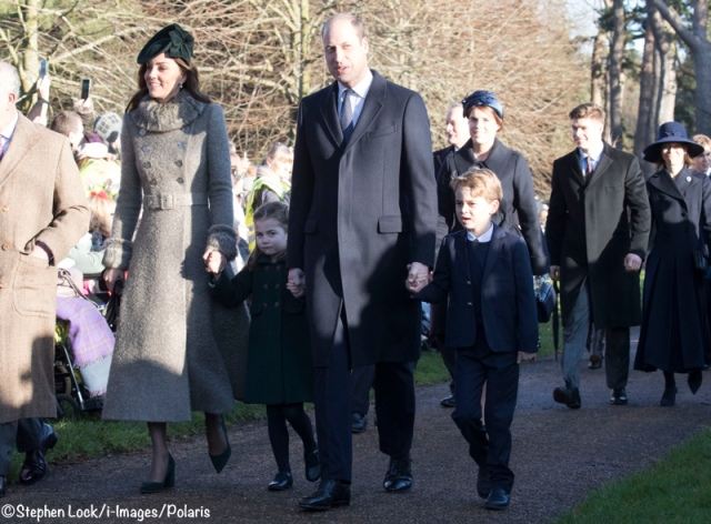 Royals at Christmas Day Church Service